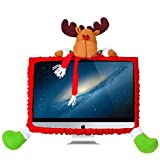 Woooow Computer Monitor Cover, Elastic Computer Cover Christmas Decorations Home Office Decor Year Gift Ideas (Color 1)