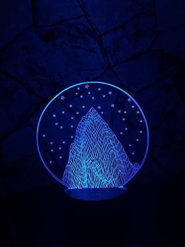 Romantische Sterne Schnee Berg 3D Led Usb Lampe Illusion Stimmung Kunst Neuheit Beleuchtung Freundin Weihnachten Innovative Gadget Geschenke
