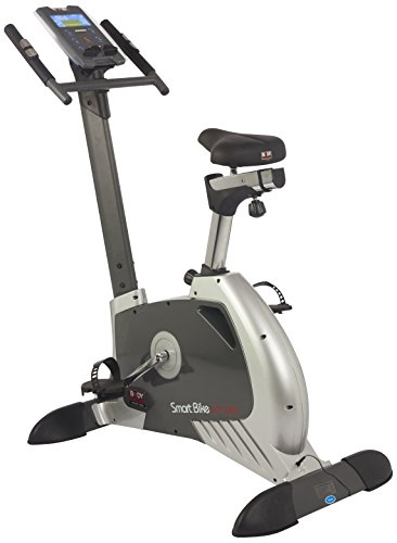 BODY SCULPTURE Smart Bike Ergometer 28156 Heimtrainer - Fahrrad-Trainer magenetisches Schwungmassensystem Bluetooth + App fähig Computer Brustgurt-Empfänger Handpulssensoren