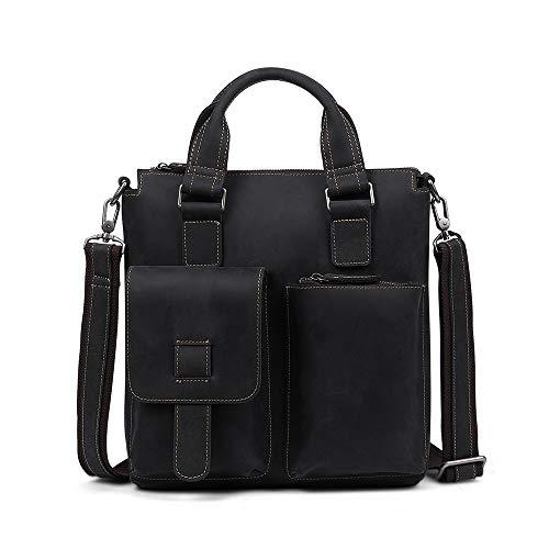 Herenmode schouder diagonaal pakket, 13 inch ziek paard leer retro woordelijk lederen handtassen schouder tas voor mannen business kantoor tassen