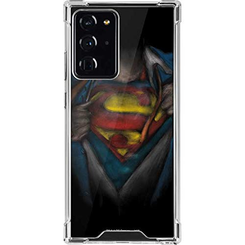 Skinit Clear Phone Case Compatible with Galaxy Note 20 Ultra 5G - Officially Licensed Warner Bros Superman Chalk Design