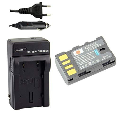 DSTE Repuesto Batería y DC36E Viaje Cargador kit para JVC BN-VF808U GZ-MG130...