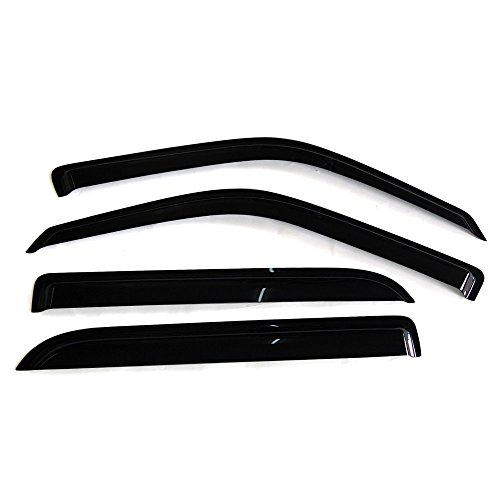 Smoke Tinted//Semi-transparent PC Injection Polycarbonate Shade Rain Sun Guard Wind Vent Air Deflector by IKON MOTORSPORTS Window Visors Compatible With 2018-2020 Toyota Camry
