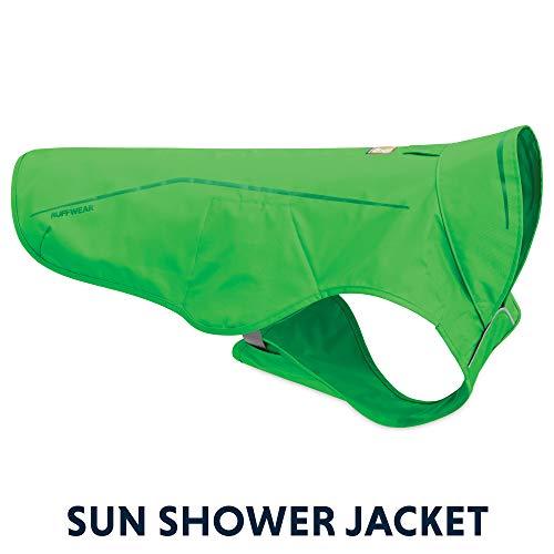 Ruffwear Waterdichte regenjas voor honden, verschillende kleuren en maten, Sun Shower, Sun Shower, XXS, Grün (Meadow Green)