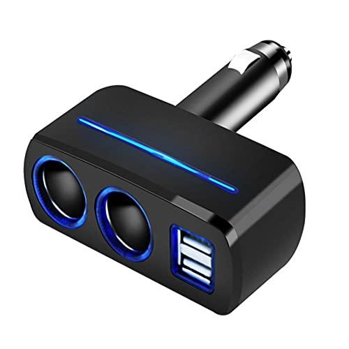 UTOBY Cargador para encendedor de cigarrillos, adaptador USB, 2 puertos para coche, cargador para encendedor de coche, 12-24 V