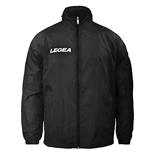 LEGEA Rain Jacket Italia, Giacca Unisex – Adulto, Nero, L