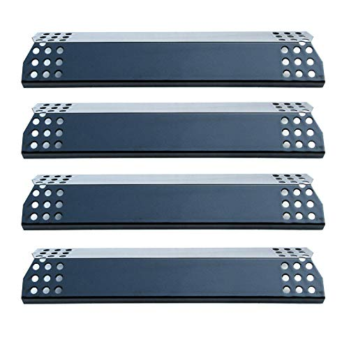 Direct Store Parts DP129 (4-Pack) Porcelain Steel Heat Shield/Heat Plates Replacement for Sunbeam, Nexgrill, Grill Master, Charbroil, Kitchen Aid, Members Mark, Uberhaus, Gas Grill Models (4)