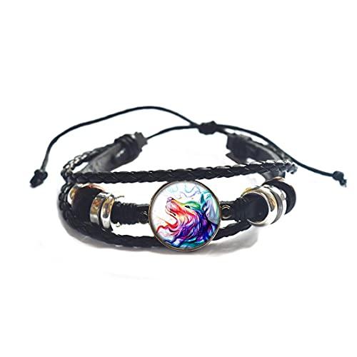 Pulsera de lobo, pulsera de lobo para mujer, pulsera de fuerza, brazalete de lobo, joyería inspiradora, pulsera de animales de lobo JV106