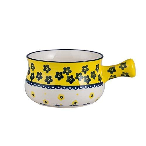 WEHOLY Abendessen Cartoon Schöne Tiermuster Keramik Schüssel Pudding Desserts Suppe Nudeln Salat Schüssel Home Decoration (Farbe: A)
