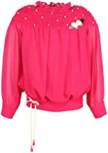 Cutecumber Girls Georgette Embellished Red Top. CC1244A-RED
