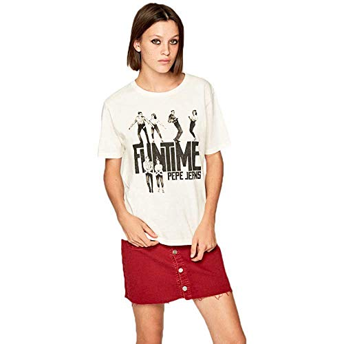 Pepe Jeans - PL504348 - Camiseta Baile CINAMON - Manga Corta - para Mujer (S)