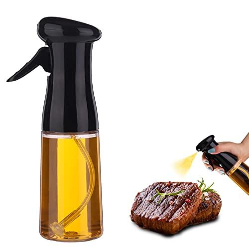 Bestomrogh 210 ml nebulizzatore olio spray olio cucina spruzzatore olio da cucina spray aceto spruzzatore olio d'oliva atomizzatore cucina griglia cottura del panea in Vetro per BBQ pane di cottura