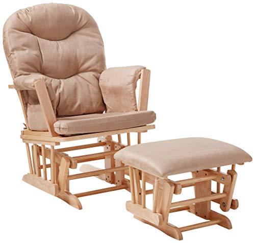 ACME Furniture Ottoman, Taupe Mfb & Natural Oak
