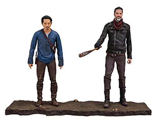 Walking Dead TV Negan y Glenn Figura de acción, Multicolor, 12,5 cm (McFarlane 14518-2)