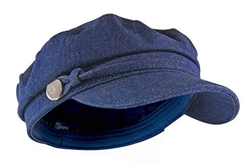 sock snob Damen Vintage Ballonmütze Schirmmütze in Blau Jeans & Rosa Cord (GL723 Blue, One Size)