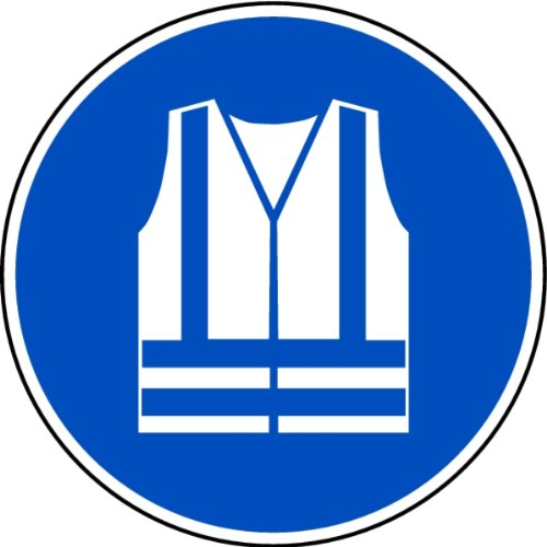 LEMAX® Aufkleber Warnweste benutzen nach ISO 7010 ISO-M015 200mm