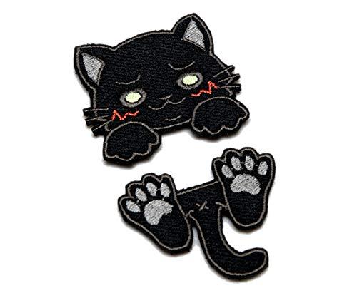 明日香縫製 Nitron.Patchコラボ はさみねこ パッチ (KURO(黒猫))