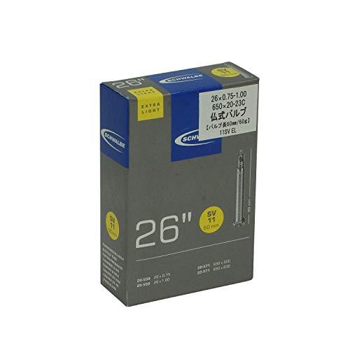 Schwalbe 26X100 MTB Extra Light Sv11 60Mm, cordoni Unisex Adulto, Nero, 26''
