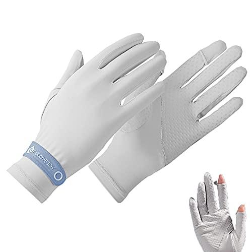 Unisex Sunblock Handschuhe Touchscreen Sonnenschutz Fahrradhandschuhe UPF 50+ UV-Schutz Rutschfest Ice Slik Atmungsaktiv Marineblau