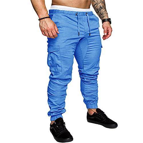 N\P Autumn Men Pants Harem Pants Male Trousers Mens Joggers Blue