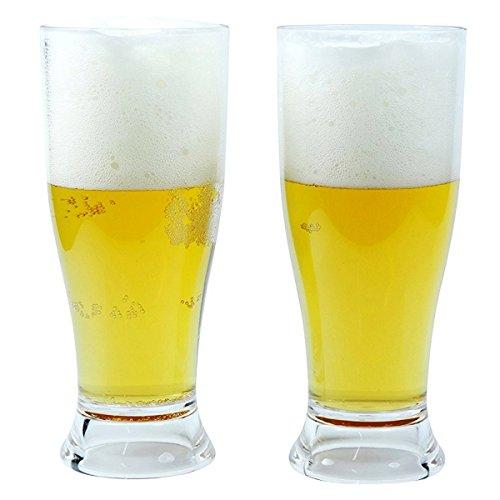 Viva Haushaltswaren 2 Biergläser aus hochwertigem bruchfesten Kunststoff 350 ml