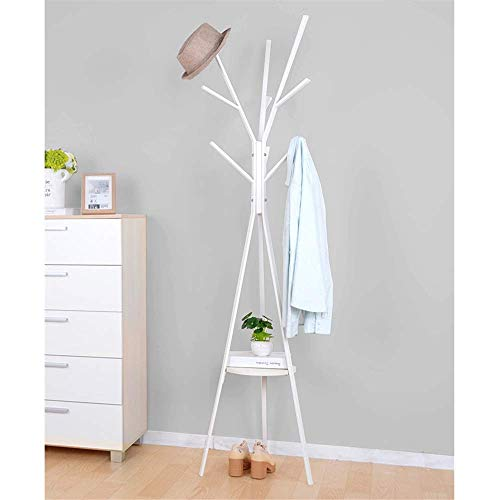YLCJ Coat Rack Coat Hanger Piano Bedroom Simple House Coat rack in smeedijzeren Coat rack Eenvoudig en modern Coat rack (Kleur: wit, Maat: vrij formaat)