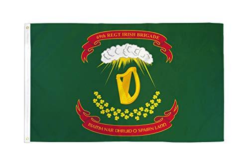 AZ FLAG Irish Brigade of United States Flag 3' x 5' - US Union Army Flags 90 x 150 cm - Banner 3x5 ft