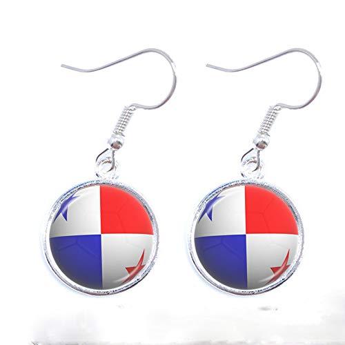 Neue 2018 Fashion Ohrringe Titan Cup Fußball Nationalflagge Panama, Australien, Ägypten, Argentinien, Russland Tropfenohrringe Souvenir Geschenk