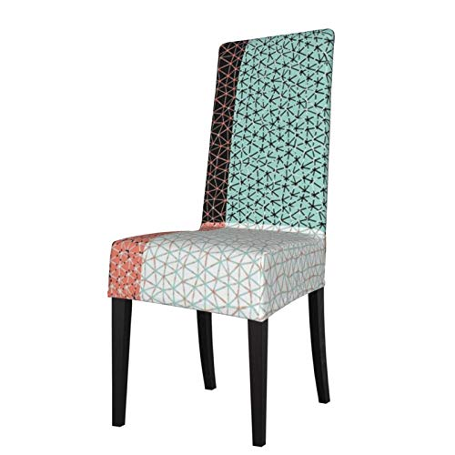 2 fundas elásticas para silla para comedor, diseño retro de triangulación de New México, lavable, para decoración de Navidad, ceremonias, banquetes, bodas, fiestas, comedores.
