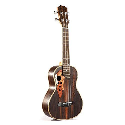 SODIAL Soprano concert ukelele 23 inch palissander ukelele met 4 tekenreeks mini Hawaii gitaar muziekinstrumenten