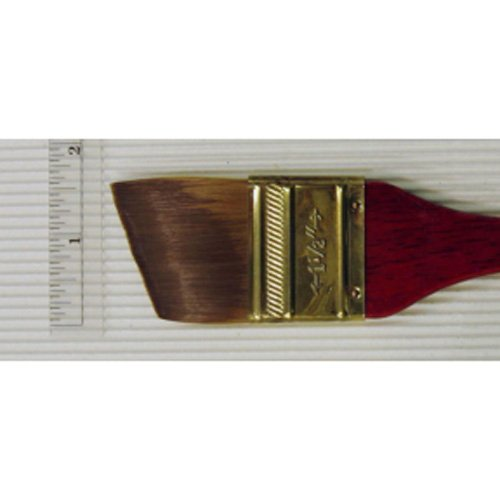 Princeton Series 4050 Synthetic Sable Watercolor Brushes 1 1/2 in. short handle angular flat wash