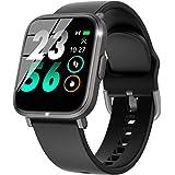 スマートウォッチ スポーツウォッチ 万歩計「2020最新版IP68防水・Bluetooth5.0・18種運動対応」スマートブレスレット リストバンド ストップウォッチ smart watch 着信通知 電話通知 腕時計 日本語アプリと説明書 ブラック