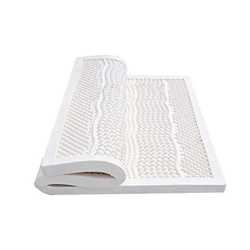 DUTUI Modern Economical Natural Latex White Mattress, Anti-Mite Massage Tatami Latex Mat, Honeycomb Vents, Soft and Comfortable, Healthy Sleep,120x200x5cm