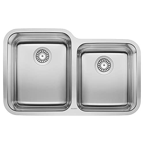 BLANCO, Stainless Steel 441023 STELLAR 60/40 Double Bowl Undermount Kitchen Sink