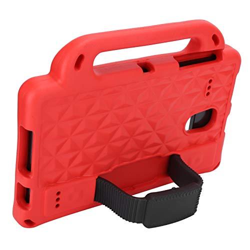 Shockproof Tablet Handle Cover Dustproof Tablet Stand Cover Kids-Friendly Protecive Sleeve Support for speakers, camera, headphones(Scarlet)