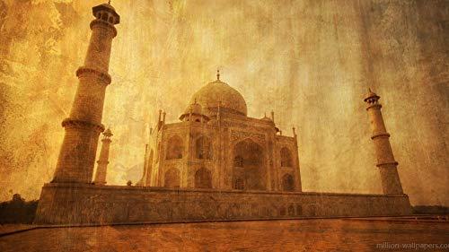 Juguetes Rompecabezas Clásico Puzzle De Madera - Patrón Vintage Taj Mahal - Puzzle 1500 Piezas,870X570Mm