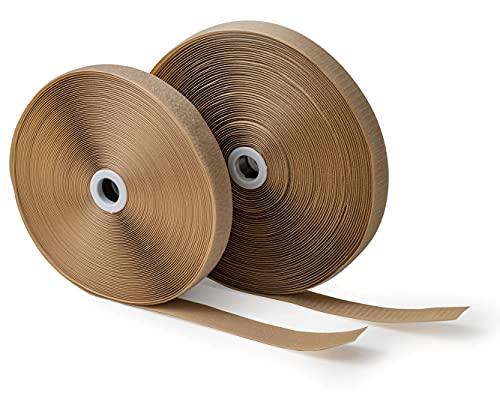 IPEA Cinta de velcro (no adhesiva) para coser – 25 metros x 20 mm – Cinta de costura extra fuerte para decoración del hogar – Cuerda gancho y anillo – Color beige