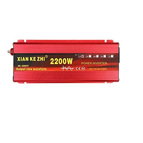 GQFGYYL 2200W/3000W Pure Sine Wave Inverter, Car Power Inverter DC 12V/ 24V to AC 220V Converter with Alligator-Clip and Cigarette Lighter Cable, for RV Truck Road Travel,2200W