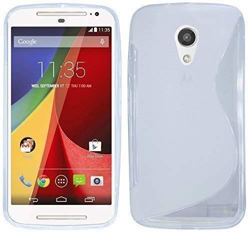 ENERGMiX Silikon Hülle kompatibel mit Motorola Moto G 2.Generation Schutzhülle Hülle Cover Gel in Transparent