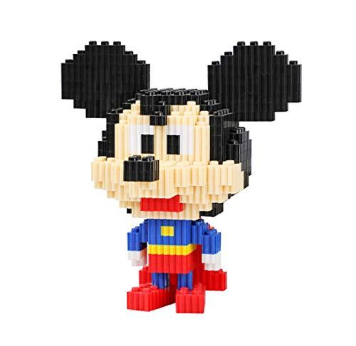 BAIDEFENG Kind Bausteine Disney Mickey Minnie Donald Duck Bausteine Spielzeug Modell Mini Cartoon Blöcke 3D Puzzle Micro Ziegelsteine Kinder Bildung DIY Spielzeug Geschenk,D