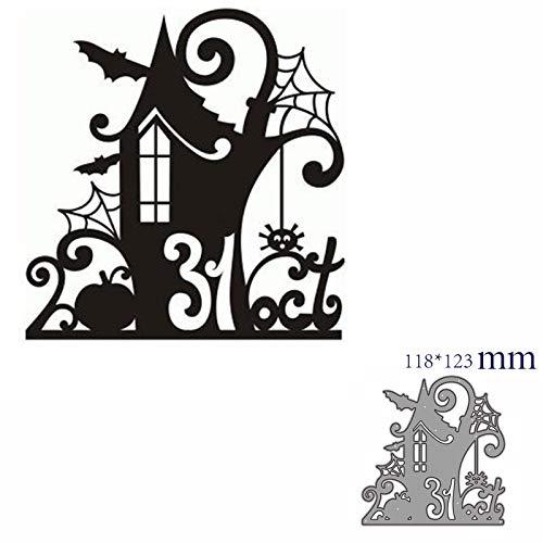 JWGD Metallschneideisen Cut Die Form-Halloween-Dekoration Einkleb Papiermesser Mold Blatt Lochen Stencils Einsätze