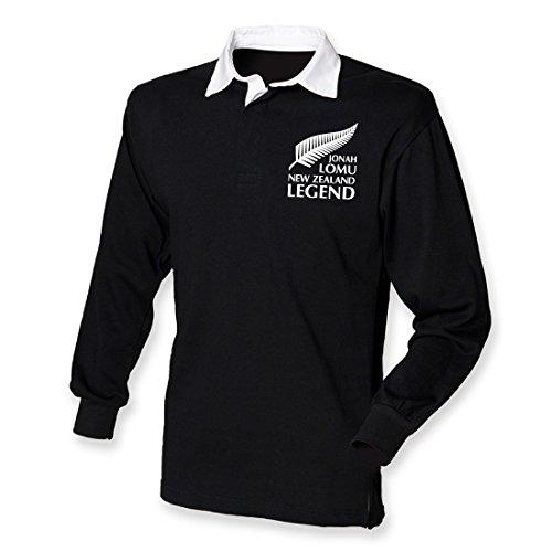 Jonah Trikot Tribute New Zealand Rugby Legend Shirt Gr. XXX-Large, schwarz / weiß