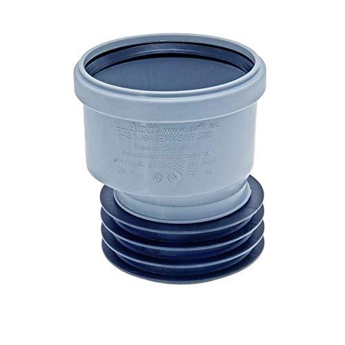 Airfit Steck-Muffe -PlusrStück Exentrisch aus PP für Rohre ab 100mm Innen-Durchm.- Größe DN 110x110, Grau
