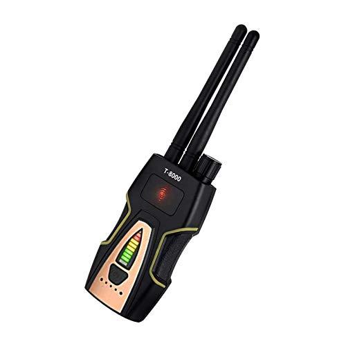 ZHITING-T-8000 Detector de señal de RF Detector de errores inalámbrico Lente de la cámara Buscador de audio GSM Detector de escaneo GPS Plateado para detección de escuchas/rastreador GPS