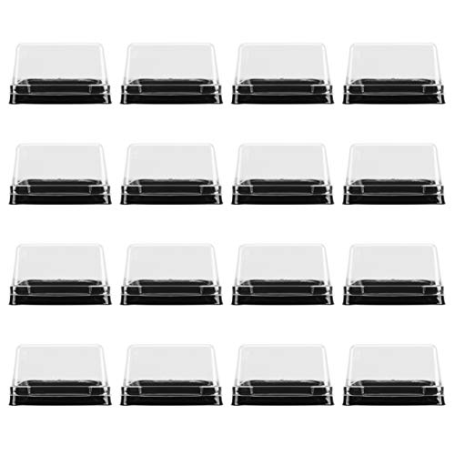 YARNOW 100 piezas Caja de Tarta de Luna Transparente Cajas de embalaje de plástico transparente cuadrado para horno para tartas tartas y quesecake contenedor de porción para galletas.