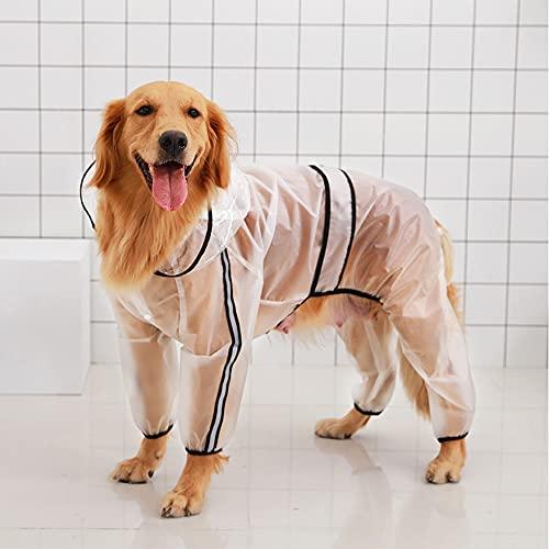 JINGYOUDAMAI Hunde Regenmantel Mit Kapuze,Hunderegenmantel Reflektierendem Streifen,Hund Mit Kapuze Regenmantel Reflektierende,Regenjacke Hunde Mit Kapuze,Hund Regenmantel Wasserdicht