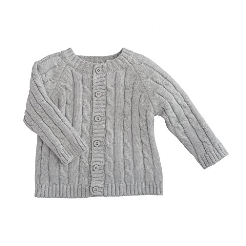 Price comparison product image Elegant Baby Classic Cable Baby Sweater,  6-12M,  EB Gray