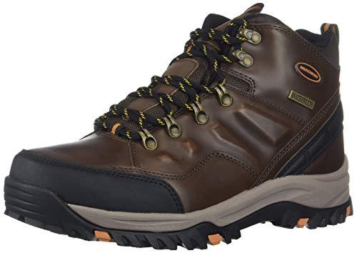 Skechers Men's RELMENT-TRAVEN Hiking Boot, dkbr, 10.5 Wide US