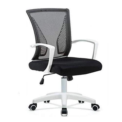 Stühle Mesh Ergonomisches Design, Drehbare, Neigbare Nylonbasis Höhenverstellbarer Lift Home Office Work Rückenlehnensitz (Farbe: D)