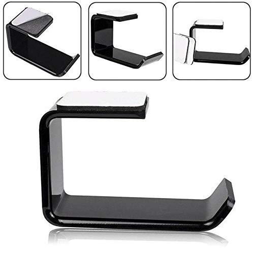 BLOUR 1PC Aufkleber Acryl Kopfhörerhalterung Aufhänger unter Schreibtisch Wandhalterung Headset Halter Haken Kopfhörer Sticky Display Stand Schwarz Neu
